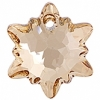 Swarovski Pendant 6748 Edelweiss 14mm Golden Shadow Crystal